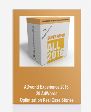ADworld Experience 2016 – 20 AdWords Optimization Real Case Stories